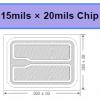 PW深紫外UVBUVC芯片15x20milPCC-06-V1
